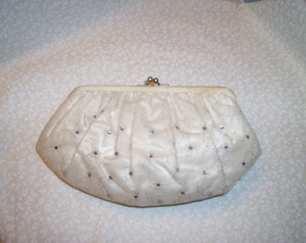 Vintage Clutch Purse with Rhinestones