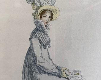Original antique fashion illustration 2
