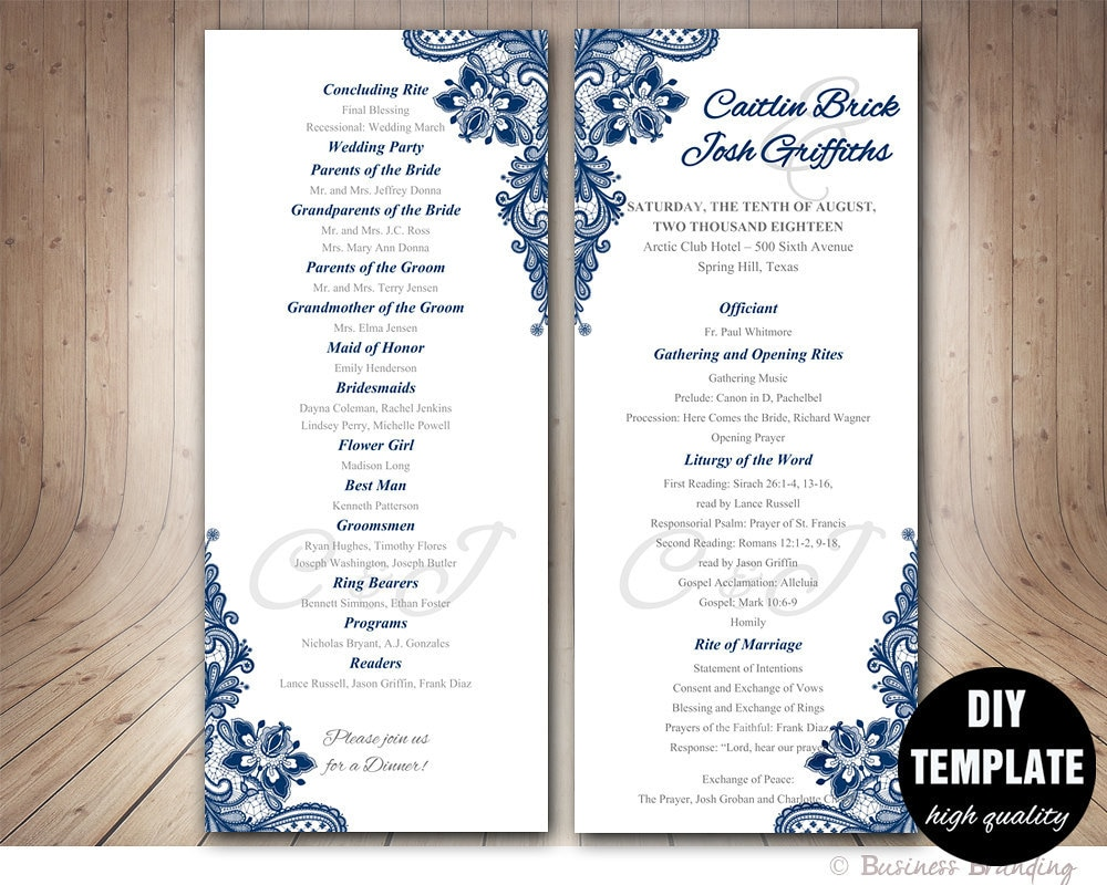banquet program template download