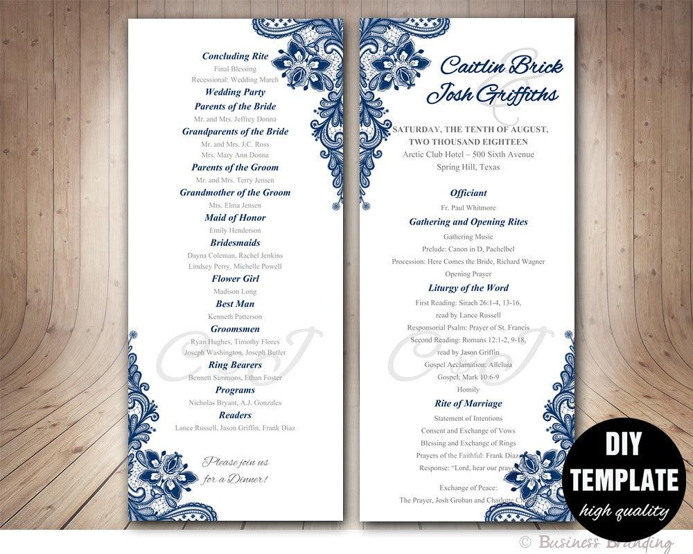 Contemporary Wedding Program Templates Gallery - Resume Ideas ...