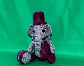 Elephant, Amigurumi Elephant, Waldorf, Stuffie Elephant, Zoo, Circus elephant, Plush, Minature, Thread crochet