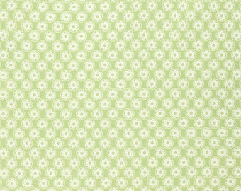 1 yard Leaf Green Little Flowers by Tanya Whelan for Free Spirit Fabric - quilt cotton