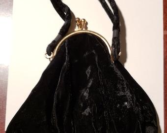 Vintage Velvet Evening Bag