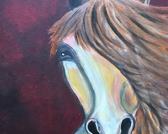 Horse painting - Fire