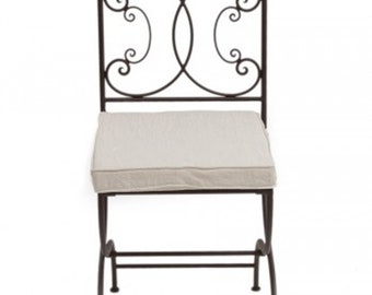 Wrought Iron Folding Iron Chair Handcrafted Moroccan