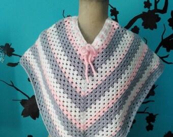 Crochet child poncho