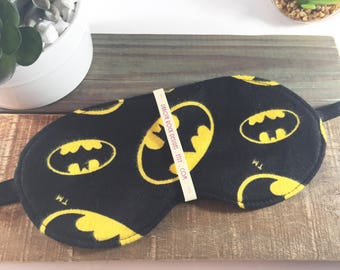 Bat Sleep Mask for Man Women, Novelty Slumber Party Favor, Mens Adjustable Comfortable Cotton Flannel Sleep Eye Cover, Comics Movies Cinemas