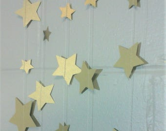 Gold Metallic Star Garland Perfect for a Photo Backdrop