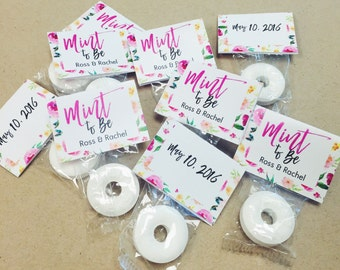 100 Wedding Favors, Mint to Be Wedding Favors, Mint Favors, Wedding Favor Mints, Personalized Wedding Favor, Floral Wedding Favors