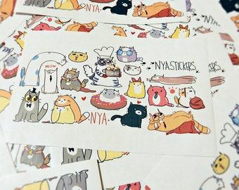 Cute cats original stickers