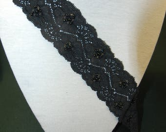 1.20 m of lace spandex width 5 cm