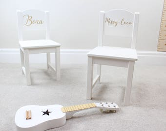 Personalised Childrenu0027s Chair, Personalised Chair, White Chair, Childs Chair,  Childrens Stool, Nursery Funiture, Reading Chair, Chair