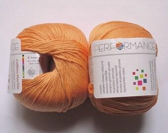 10 balls orange pure cotton Cotton Marble 192 Performance