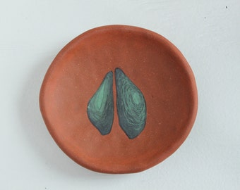 Plate with Green Shapes