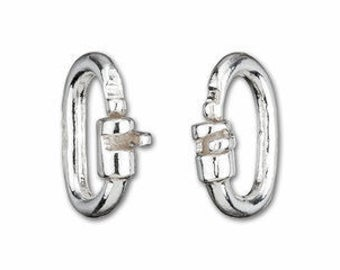 Sterling Silver Locking Jump Ring for locking lighter weight chain style discreet day collars and day collar alternatives