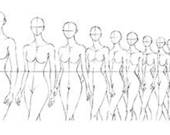 FASHION FIGURE TEMPLATE: Runway Finale Walk Line-Up