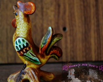 Colors, Rooster, Vintage, Little, Cute, Porcelain, Roosters, Chickens, Farm, Animal's