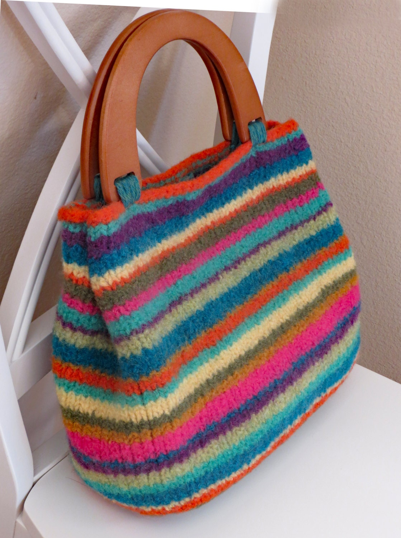 Encantador Knitted Bag Patterns For Beginners Modelo - Manta de ...