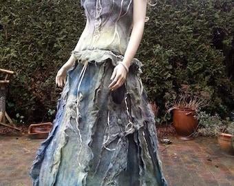 Felted dress from Alpaca wool