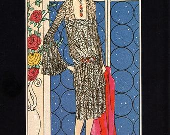 Authentic 1979 Vintage Art Deco Fashion Print Doucet Art, Gout, Beaute