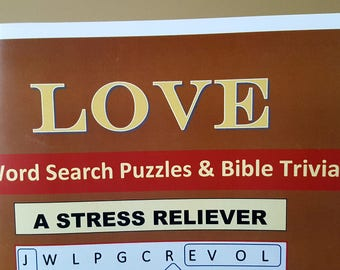 Love Word Search Puzzles and Trivia Book
