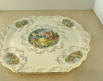 Royal China Warranted 22 KT. Gold Serving Tray