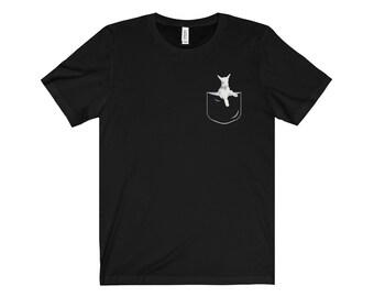 Pocket Goat Shirt, Funny Goat In Pocket Gift Shirt [not real pocket]