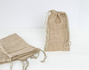 48 5 x 6 Burlap Bags with Drawstring , favor bags, wedding favor bags, birthday favors, burlap bags, Thank You Rustic Shabby Chic Candy Bags