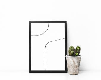 Black and white minimal print,nordic prints,contemporary style,art,mid century style,5x7,8x10,16x20,20x30,Modern Design Poster,living room,