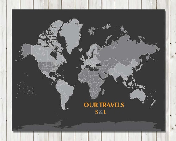 Personalized map mounted on foam board blank map16x20 like this item gumiabroncs Gallery
