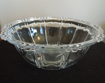 Pearl Patterned Pressed Glass Bowl