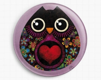 Needle Minder - Licensed Art By Sandra Vargas - Owl Hatch - Cross Stitch Keeper - Fridge Magnet