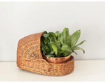 Wicker Basket Baby Bassinet   Nursery Decor   Planter Wicker Basket   Boho Nursery