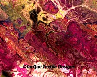 Pink Handmade Velvet Upholstery Lightening Fabric Kaleidoscope Shimmer Fiber Art Fabric