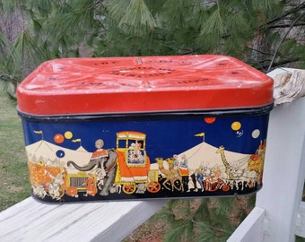 The Great Animal Show Supreme Biscuit Tin Circus Theme