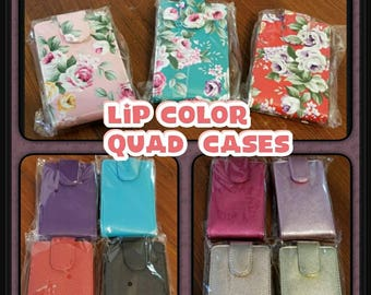 Customized Lip Boss / Gloss Quad Cases for your LipSense colors/glosses