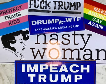 Anti-Trump, Pro-Resistance 6-Piece Vinyl Sticker Curated Value Pack - Makes a Great Gift