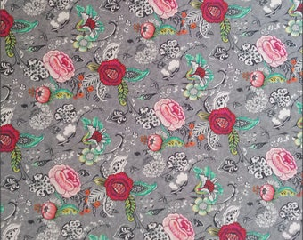 Oriane Floral 160cm Wide 100% Cotton Fabric - per 1/2m - For Dressmaking and Patchwork - Free Shipping