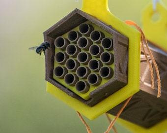30% OFF SPRING SALE! The Cannon - 3D printed Solitary Bee House/Home/Hive - Support Natural Farming