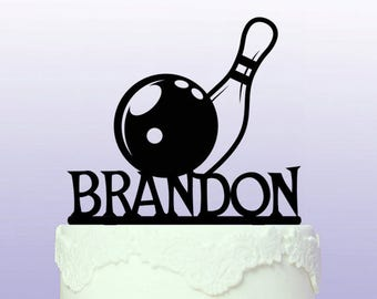 Personalised Bowling Cake Topper