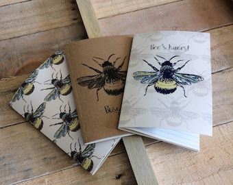 Small A6 Bee pocket notebooks_