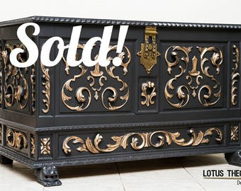 SOLD!!! Carved Wood Chest