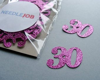 30th birthday party decorations, 30 confetti, 30th birthday confetti, 30 birthday decorations, 30 years birthday, Number confetti
