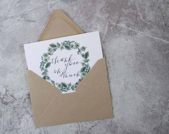 Thank you, oh so much [Floral Folded Greeting Card]