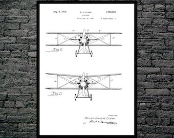 Airplane patent, Airplane Poster, Airplane print, Airplane Wall Decor, Aviation Poster, Aviation Print, Aviation Wall Art, Aviation Art