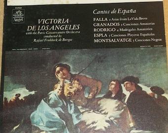 Victoria De Los Angeles Cantos De Espana Vinyl Classical Record Album