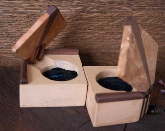Engagement wooden ring boxes wedding box ring's box anniversary wooden gift