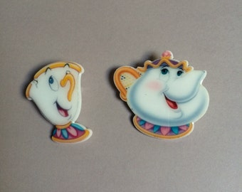 Mrs. Potts and Chip pin set
