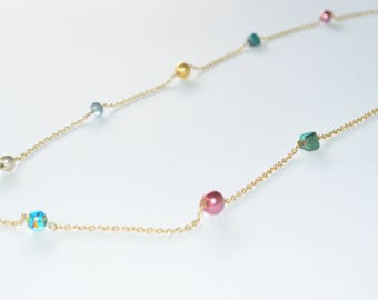 Candy Shop Necklace- Gold Necklace- Trendy Jewelry-