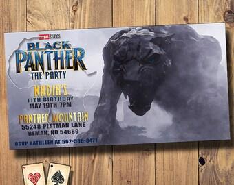 Panther Mountain Invitation, Black Panther Birthday, Avengers, Superhero Birthday Party, Infinity War Printable, Printable Party Invitation
